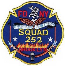 NEW  YORK  -  BROOKLYN  FIRE  DEPARTMENT    SQUAD  252    Patch