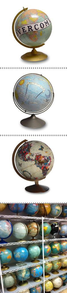 one can never have enough globes #vintage #world #globes