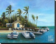 Sunday Morning, Key West Stretched Canvas Print by John Ketley at Art.com