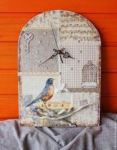 "Часы для дома ручной работы. Ярмарка Мастеров - ручная работа Часы""Романтика"". Handmade."