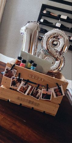 18th Birthday Gifts For Girls, Birthday Presents For Friends, Birthday Gifts For Boyfriend Diy, Cute Boyfriend Gifts, Creative Birthday Gifts, Cute Birthday Gift, Happy Birthday Gifts, Boyfriend Anniversary Gifts, 15th Birthday