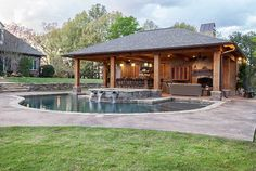 Backyard Landscaping Ideas-Swimming Pool Design | Outdoor kitchen ...