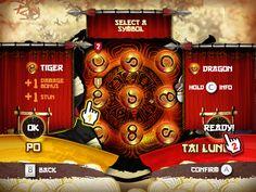 Kung Fu Panda User Interface - Wii by Eric Bellefeuille, via Behance