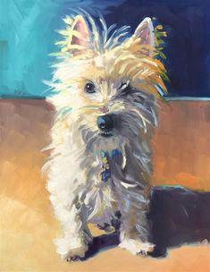 Mb Warner Gallery of Original Fine Art Watercolor Canvas, Watercolor Animals, Dog Portraits, Fine Art Gallery, Animal Paintings, Dog Art, Dog Pictures, Illustration, Art Drawings