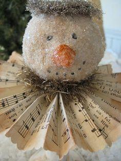 Papier mache | Paper Mache Snowman | Flickr - Photo Sharing!