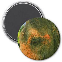 Elephant Eye Refrigerator Magnet #zazzle #magnet #elephant #eye #animals #zoo