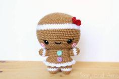 PATTERN: Cuddle-Sized Gingerbread Twins Amigurumi Crocheted