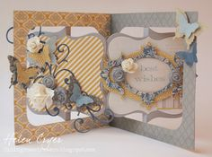 The Dining Room Drawers: Accordion Album & Stampin' Up Butterfly Punch…