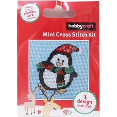 Penguin Mini Cross Stitch Kit | Hobbycraft