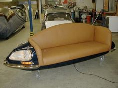 Auto-inspired couch - tan