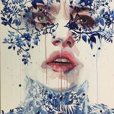 "mirrormaskcamera: """" Oltremare「Overseas」 by agnes-cecile (Silvia Pelissero) "" I really like me this illustration Art And Illustration, Illustrations, Kunst Inspo, Art Inspo, Watercolor Portraits, Watercolor Art, Agnes Cecile, Silvia Pelissero, Deviant Art"