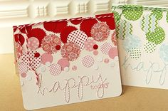 love the circles! what a great way to use scraps! by anne