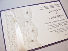 DIANA Vintage Lace Wedding Invitation with by LavenderPaperie1, $637.50