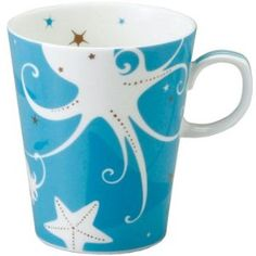coffee mug - octopus, blue