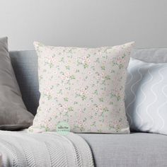 This pattern was created from my love for roses. I love the simplicity and romance of this design. It gives a cottage and country living vibe. Pink Throws, Pink Throw Pillows, Designer Throw Pillows, Flower Patterns, Flower Designs, Light Pink Rose, Rose Cottage, Country Charm, Pillow Design