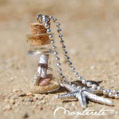 Collar botellita de cristal con secreto marinero