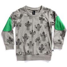 Minti summer crew cactus grey marle | fashion deli children's clothing & accessories