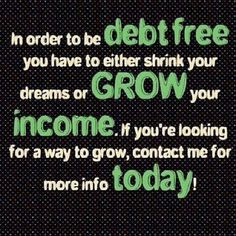 DEBT FREE is the way to be in 2014! Secure a future for yourself and your family! Be your own boss and do it all from home with a smile on your face :^) I look forward to hearing from you!  IT WORKS!