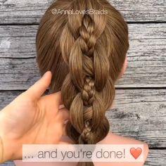 Down Hairstyles For Long Hair, Hairdo For Long Hair, Long Hair Video, Braided Hairstyles, Hair With Flair, Girl Hair Dos, Bridal Hair Buns, Front Hair Styles, Hair Videos