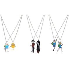 Adventure Time Finn & Fionna Best Friends Necklaces | Hot Topic ❤ liked on Polyvore featuring jewelry, necklaces, chain jewelry, chain pendant, chain necklace, pendant jewelry and pendant chain necklace