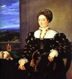 Eleonora Gonzaga della Rovere by Titian 1536 - Uffizi Gallery, Firenze