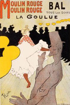 Moulin Rouge, vers 1891 Posters par Henri de Toulouse-Lautrec sur AllPosters.fr