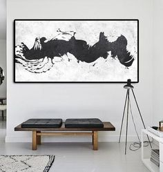Horizontal Minimalist Art hand painted black and white art minimal painting on canvas by CZ Art Design Perfect choice for modern and contemporary home. White Art, Black White, Minimalist Art, All Art, Original Paintings, Oil Paintings, Minimalism, Art Projects, Oriental