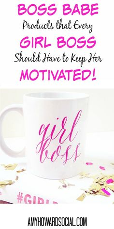 Happy National Boss's Day - If you are your own boss today is your day to celebrate! Treat yo' self and take a look at these fabulous Boss Babe Products that Every Girl Boss Should Have to Keep her Motivated!