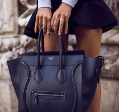 Celine Luggage Handbag 30CM in Black