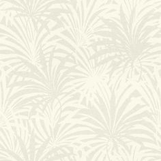 Palm Leaf by Albany - Opal White : Wallpaper Direct