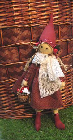 Elga a handmade female elf doll