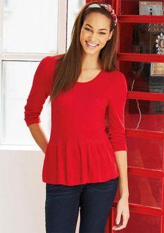 Peplum Sweater Long-Sleeve - g