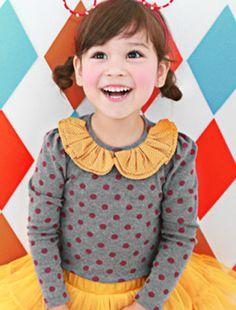 Children cute outfit by fashion - (gray) Shushu Rabbit Rabbit Chou shushu Reno dot T