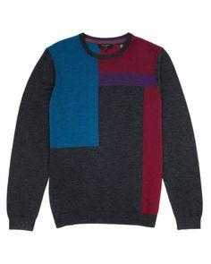 Color block merino sweater - Ted Baker