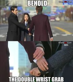 Heirs double wrist grab ^^ #parkshinhye #leeminho #kimwoobin  this is totally going to become a thing