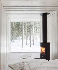 Vacation home in Finland, by Avanto Architects. Why does it have to be a baca home?