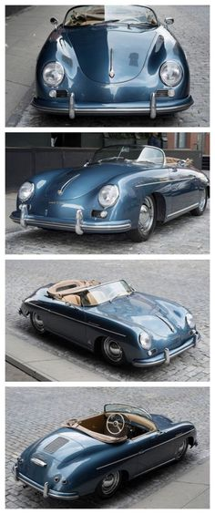 Porsche : 356 Speedster Merely Gorgeous! Porsche 356 Speedster This dream automo Porsche 550 Spyder, Porsche Macan, Porsche 356 Speedster, Porsche Carrera, Cayman Porsche, Classic Sports Cars, Bmw Classic Cars, Classic Auto, Retro Cars
