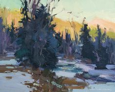 Day's End by Jill Carver Oil ~ 8 x 10