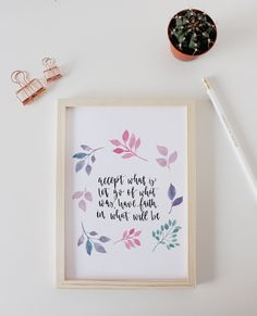 Inspirational Quote Watercolour Print - Creative Feel | Modern Stationery, Gifts, Brush Lettering Workshops and Creative Kits | Made in Brighton
