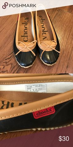 Adorable rain weather flats Super cute rain flats by chooka perfect for running errands on a rainy day and not wanting to mess up shoes as these are designed for the elements yet stylish at the same time! chooka Shoes Flats & Loafers
