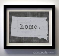 South Dakota Home. Print