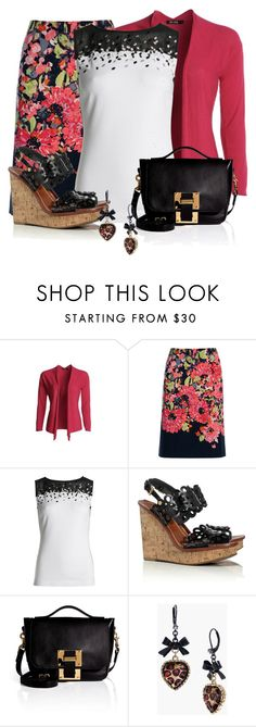 Floral Nic & Zoe…. by tinam-degen on Polyvore featuring NIC+ZOE, Tory Burch, Sophie Hulme and Betsey Johnson