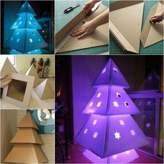 Wonderful DIY Cardboard Christmas Tree