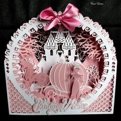Princess Shadow Box Card CraftROBO Cameo on Craftsuprint designed by Tina Fitch - Perfect piece of fantasy in this card, Any daughter would be pleased to receive...  - Now available for download!