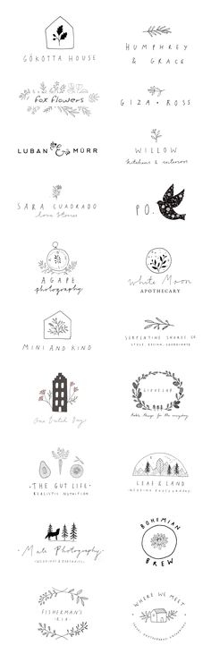 Logo designs by Ryn Frank www.rynfrankesign.co.uk