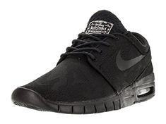 on sale 7afec a3b4d Nike Men s Stefan Janoski Max PRM Skate Shoe Black Black Photo Blue White 12