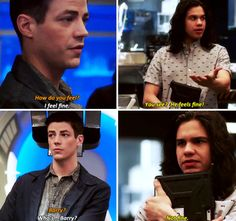"#TheFlash 3x21 ""Cause and Effect"" - ""How do you fell?. You see? He feels fine! Barry? Who's... Barry? Not fine."" - #BarryAllen #CiscoRamon"