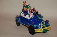 This is Mary, Joseph and the 3 Kings taking baby Jesus for a ride.  Great Gerardo Ortega folk art nativity!
