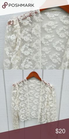 🔴BOGO🔴🌻Boho Lace Jacket The essentials to any boho wardrobe are velvet, leather, and lace! This jacket is the perfect layering piece to add a romantic quality to any outfit! Everything in my closet is Buy One Get One Free for a limited time! Take advantage of this amazing sale while you can. Jackets & Coats