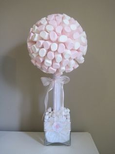 Marshmallow tree. Use chocolate to stick on the marahmallows.